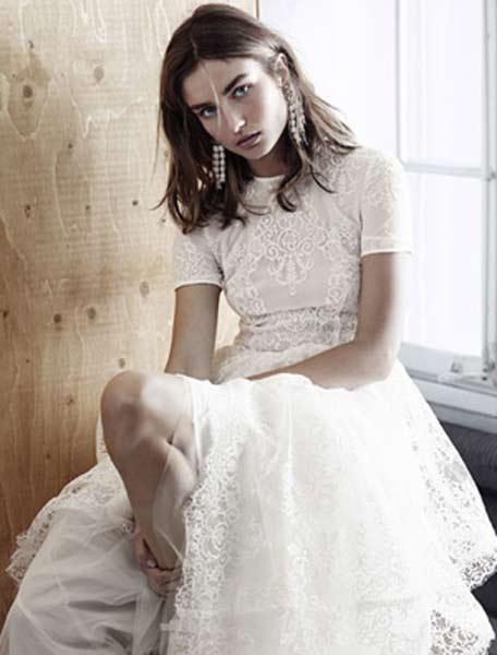 小資女專屬!超便宜的H&M全新平價時尚婚紗系列曝光!