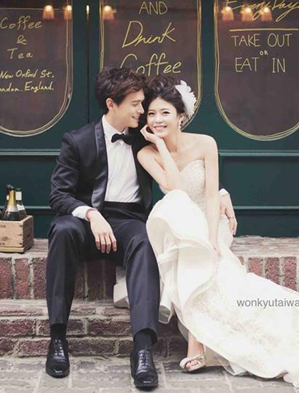 根本在拍偶像劇!倪安東與嬌妻的夢幻婚紗照