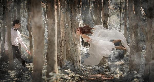 超現實夢幻攝影,飄浮婚紗
