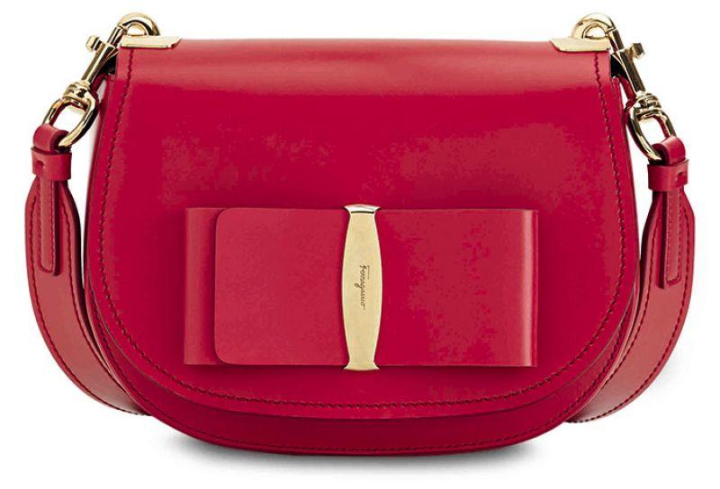 VARA LUX系列紅色牛皮肩背包NT$53,900