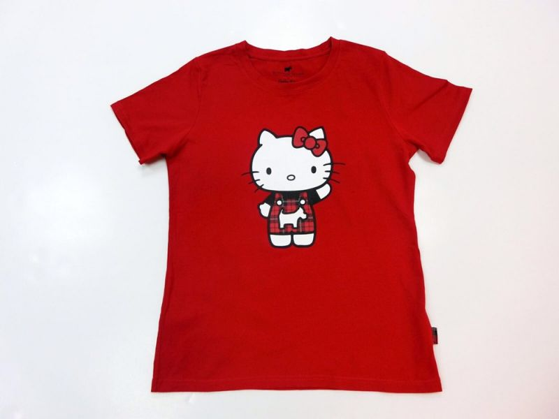 Scottish House x Hello Kitty聯名公益T-Shirt紅