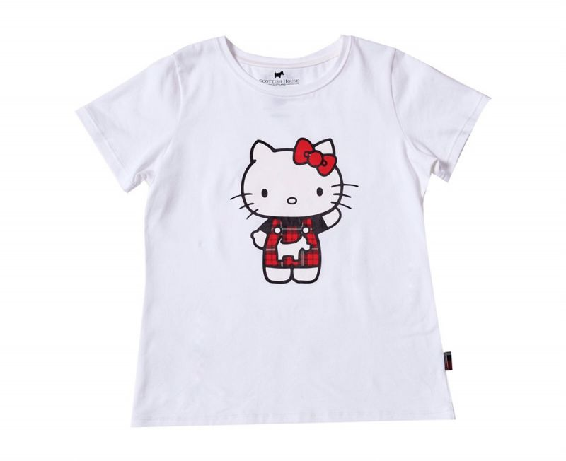 Scottish House x Hello Kitty聯名公益T-Shirt白