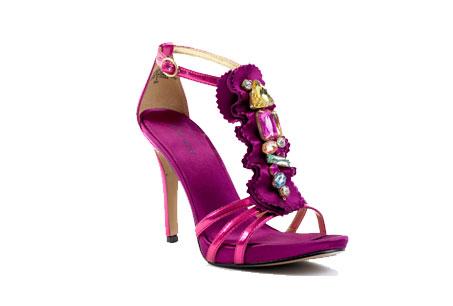 水晶裝飾桃紅晚宴跟鞋,Nine West,NT3,680