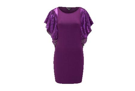 亮片荷葉邊衣袖小洋裝,AX,NT4,590