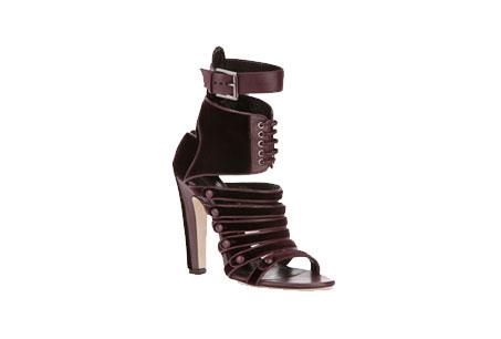酒紅緞面拼接絲絨踝靴,Versus,NT34,800