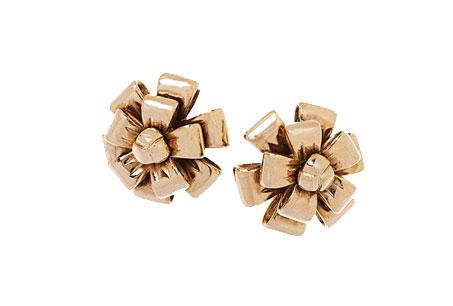 緞帶造型金屬耳環,Evita Peroni