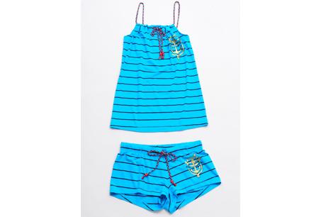 Juicy Couture海軍藍條紋泳裝