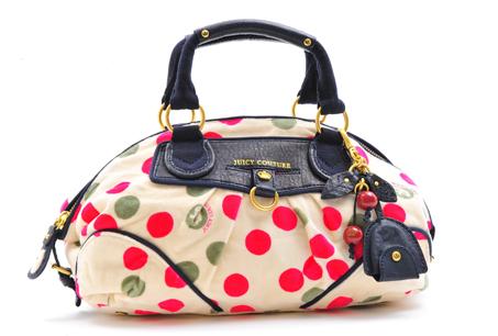 Juicy Couture漆皮圓點手提包
