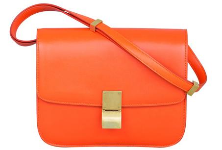 CÉLINE酷橙橘小牛皮Classic Bag