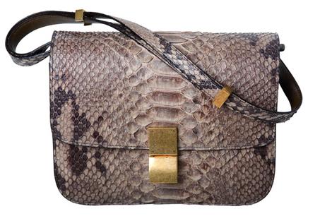 CÉLINE香草灰蟒蛇皮Classic Bag