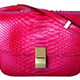 CÉLINE紅莓色蟒蛇皮Classic Bag