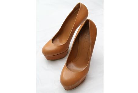 Alexander McQueen駝色厚底高跟鞋,NT27,880