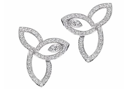 HARRY WINSTON「Lily Cluster」系列/鑽石耳環,NT267,000。
