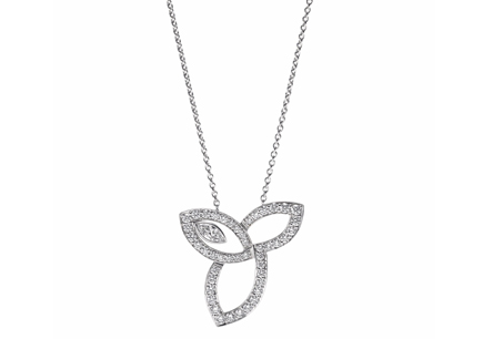 HARRY WINSTON「Lily Cluster」系列/鑽石鍊墜,NT205,000。