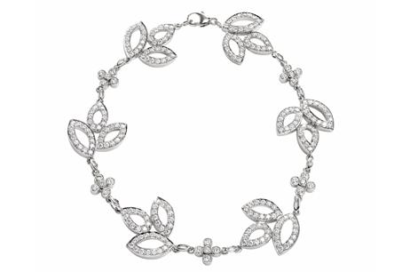 HARRY WINSTON「Lily Cluster」系列/鑽石手鍊,NT579,000。