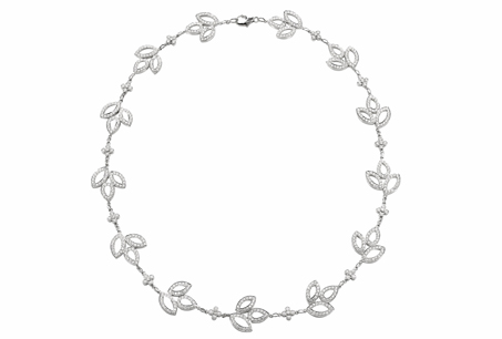 HARRY WINSTON「Lily Cluster」系列/鑽石項鍊,NT1,627,000。