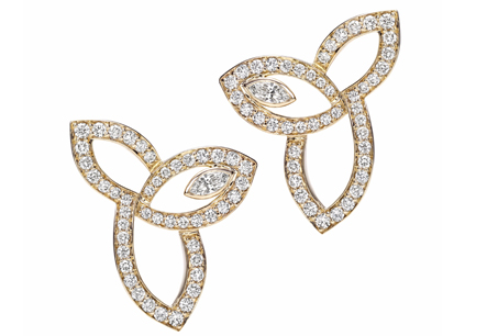 HARRY WINSTON「Lily Cluster」系列/鑽石耳環,NT237,000。