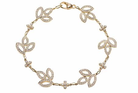 HARRY WINSTON「Lily Cluster」系列/鑽石手鍊,NT 524,000。