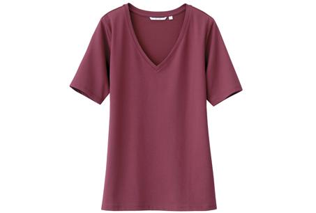 UNIQLO DRY女裝V領T恤,NT199。