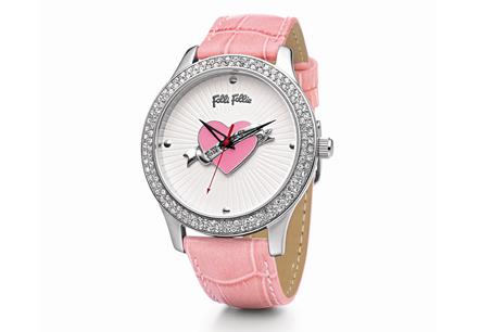 Folli Follie「Pink Heart系列」腕錶,NT7,290。