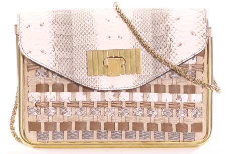Sally蛇紋編織鍊帶包NT47600