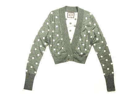 波卡爾圓點針織短外套,JUICY COUTURE,NT$7,800