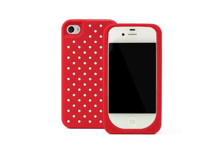 紅色白點點iPhone套,kate spade