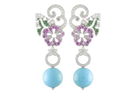 Florilège Turquoise耳環