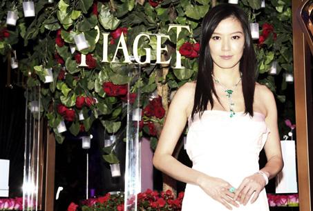 林熙蕾演繹伯爵Limelight Garden Party系列珠寶之璀璨風情