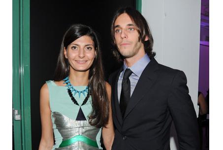 著名造型師Giovanna Battaglia與前法國Vogue總編輯Carine Roitfeld兒子Vladimir Roitfeld。