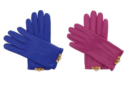 皮革手套,HERMES。