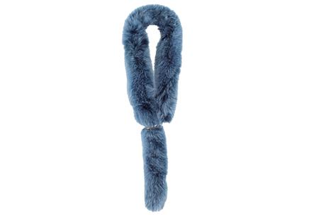 藍色毛毛圍巾,MARINA RINALDI。