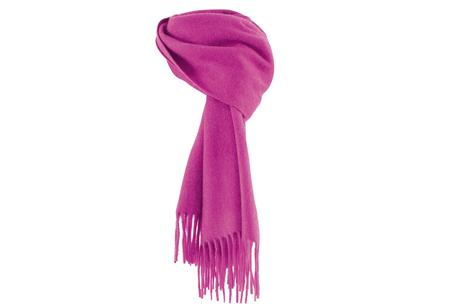 粉紫色圍巾,MARINA RINALDI。
