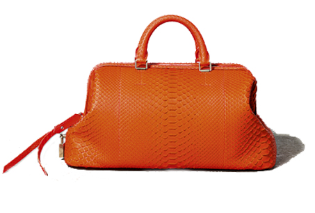 橘色皮革提包,CELINE。