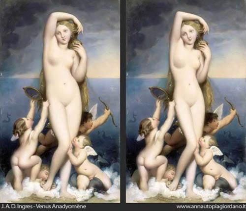 Anna Utopia Giordano藉翻玩名畫嘲諷現今審美觀