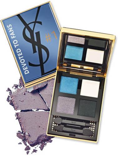 知名彩妝品牌YSL(Yves Saint Laurent)首度推出一款以Facebook為靈感的眼彩盤,一共四格,分別為鐵灰色、黑色、白色和藍色。