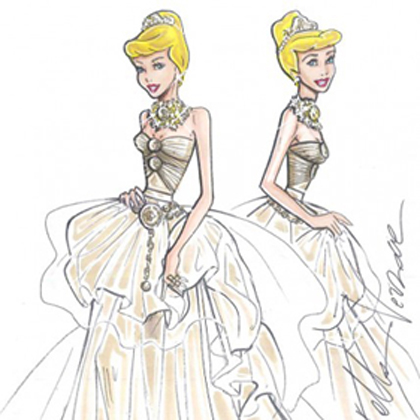 Harrods與知名設計師大牌聯手 迪士尼公主穿上高級訂製服!
