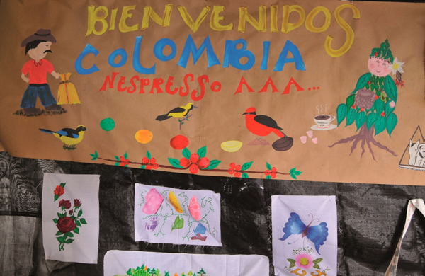Farmers' celebration of the Nespresso AAA Program in Colombia