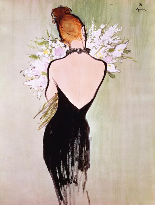 【迪奧花園】插畫家Rene GRUAU 所描繪的Diorissimo 女人© SARL René Gruau / www.renegruau.com