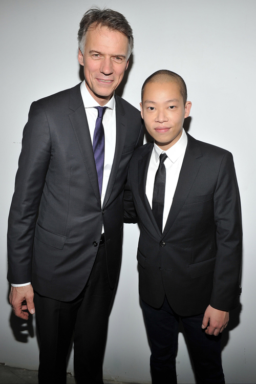 HUGO BOSS主席暨行政總裁Claus Dietrich Lahrs和藝術總監 Jason Wu 吳季剛