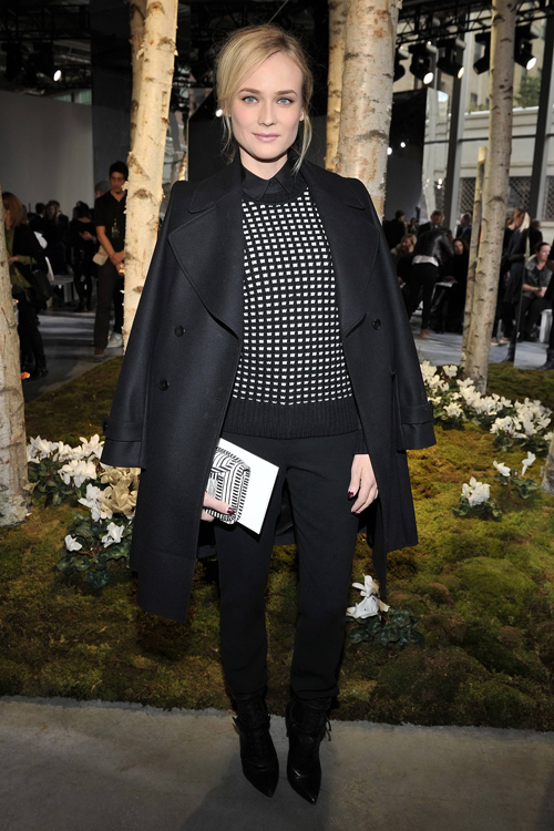 氣質女星戴安克魯格前往紐約時裝周欣賞BOSS大秀