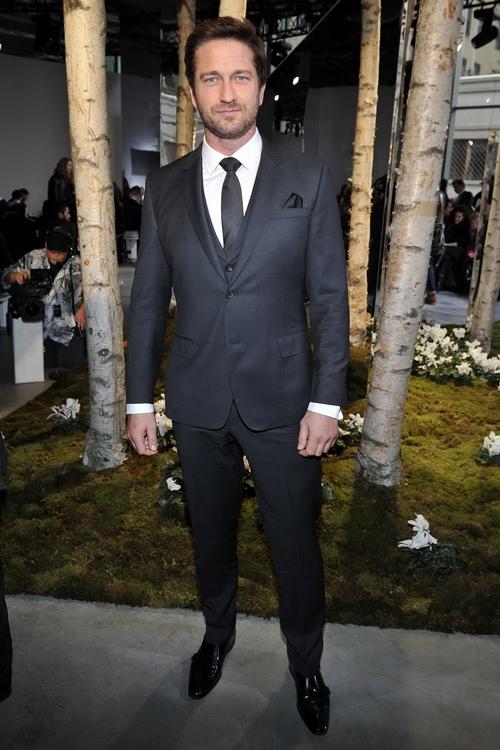 性格男星Gerard Butler傑哈德巴特勒前往紐約時裝周欣賞BOSS大秀