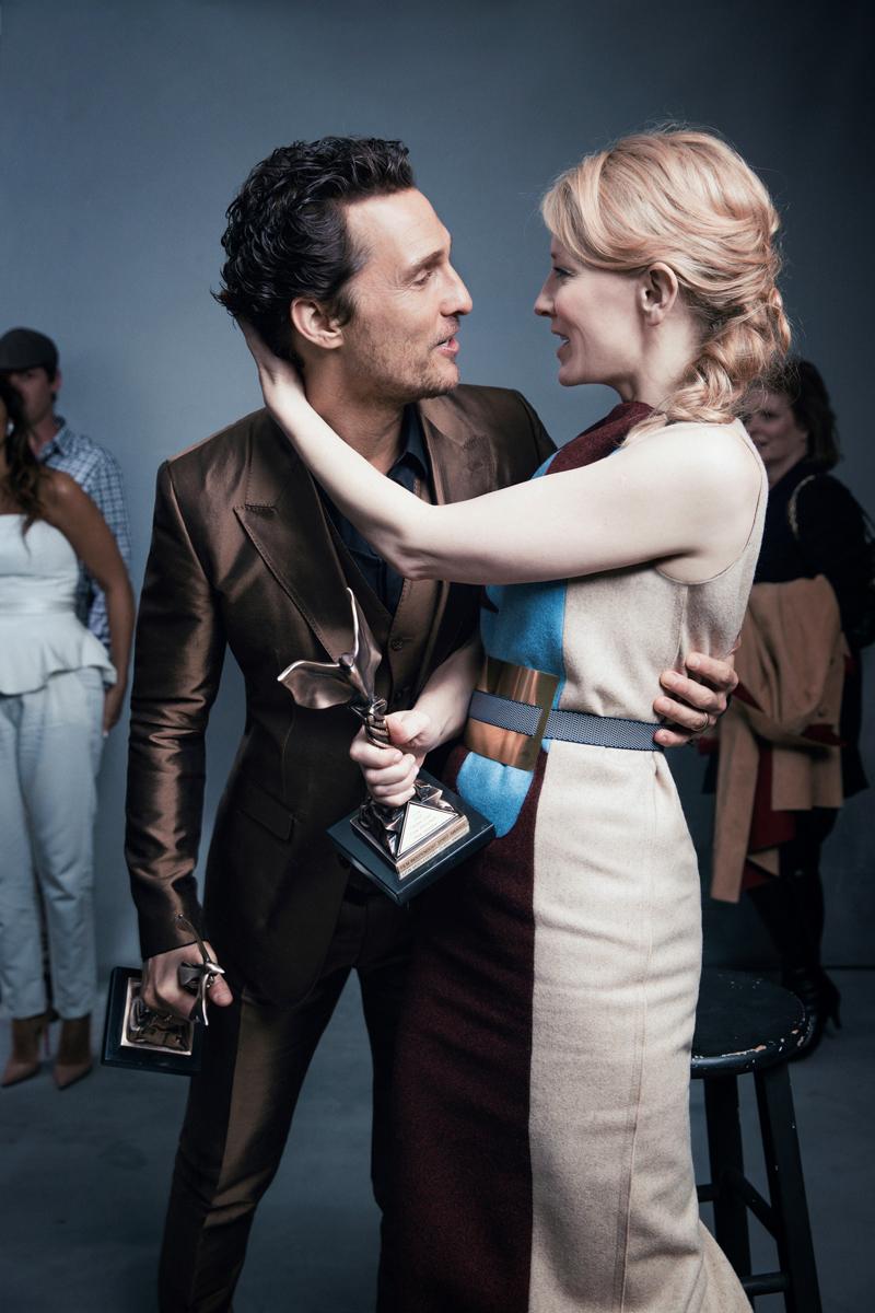 影帝 Matthew McConaughey and 影后 Cate Blanchett