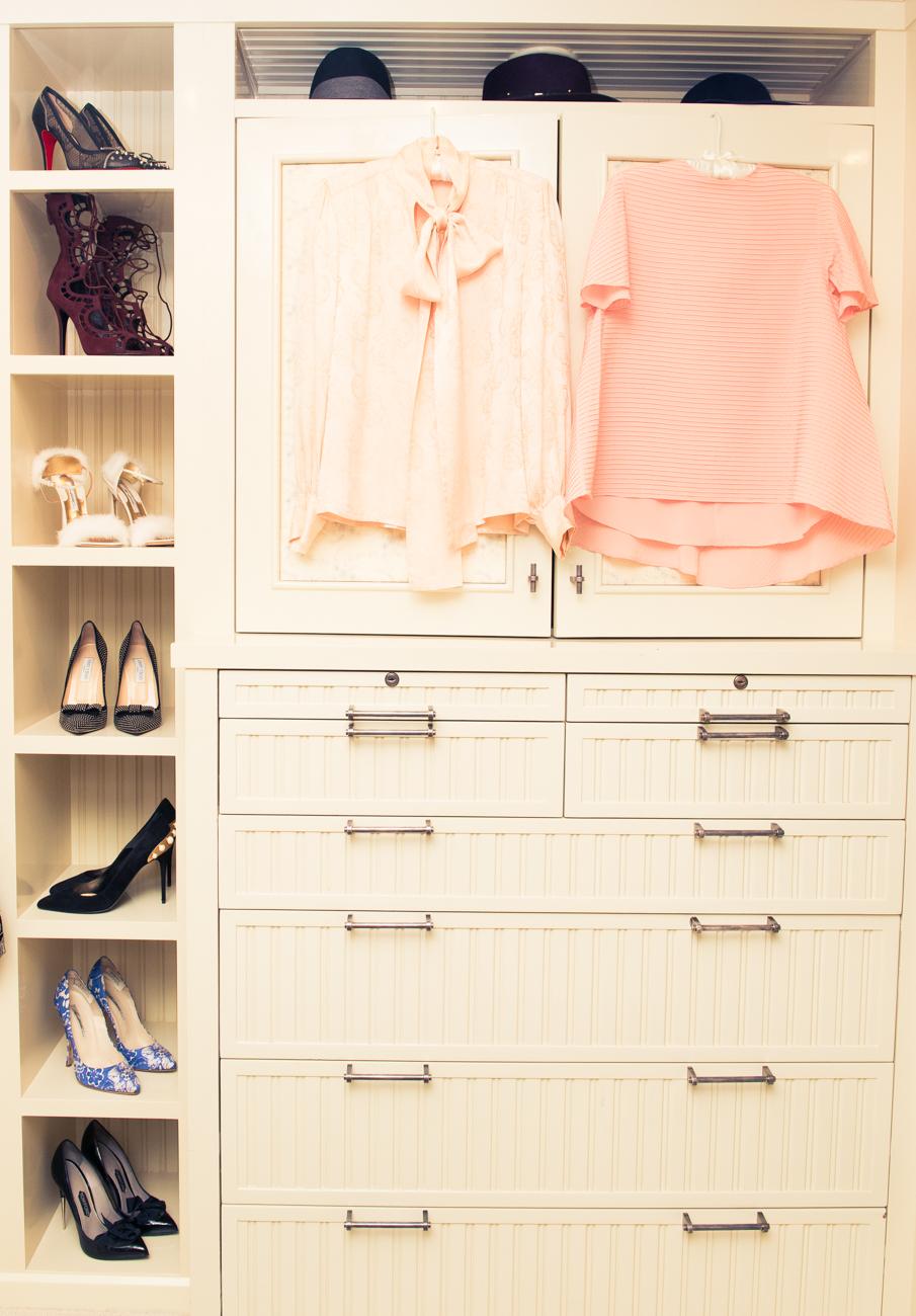 左Vintage絲質襯衫 右 Balenciaga針織衫