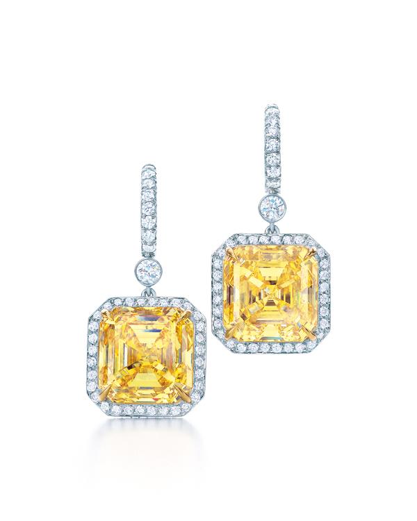 Tiffany 12.05克拉黃鑽耳環 NT$65,835,000