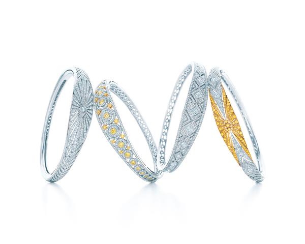 Tiffany Art Deco風格鑽石手環