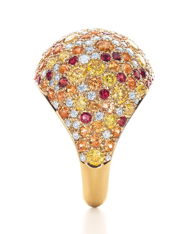 Tiffany Seurat錳鋁榴石尖晶石黃鑽戒指 NT$1,385,000
