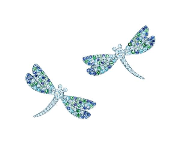 Tiffany Seurat藍寶石綠色石榴石耳環 NT$520,000