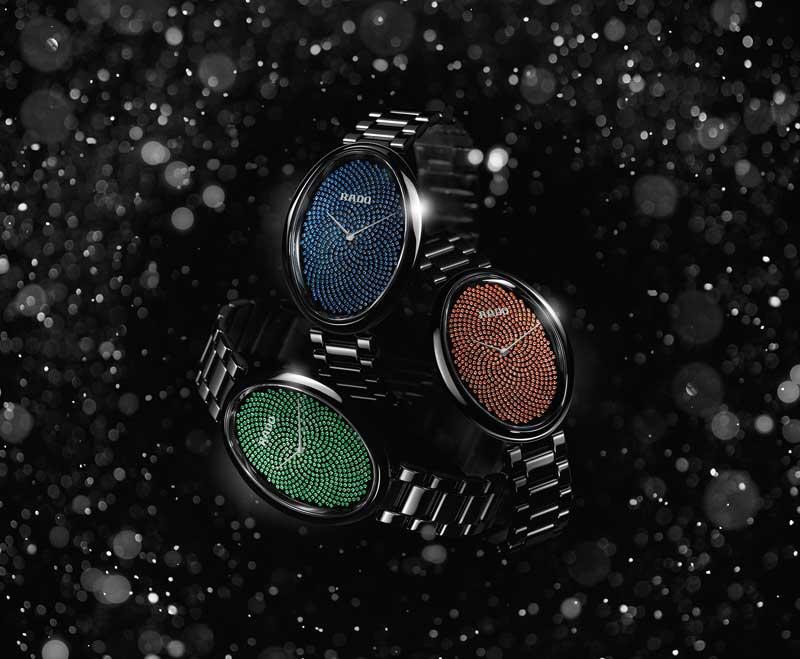 雷達表依莎系列高科技陶瓷觸控Fibonacci滿天星限量珠寶錶