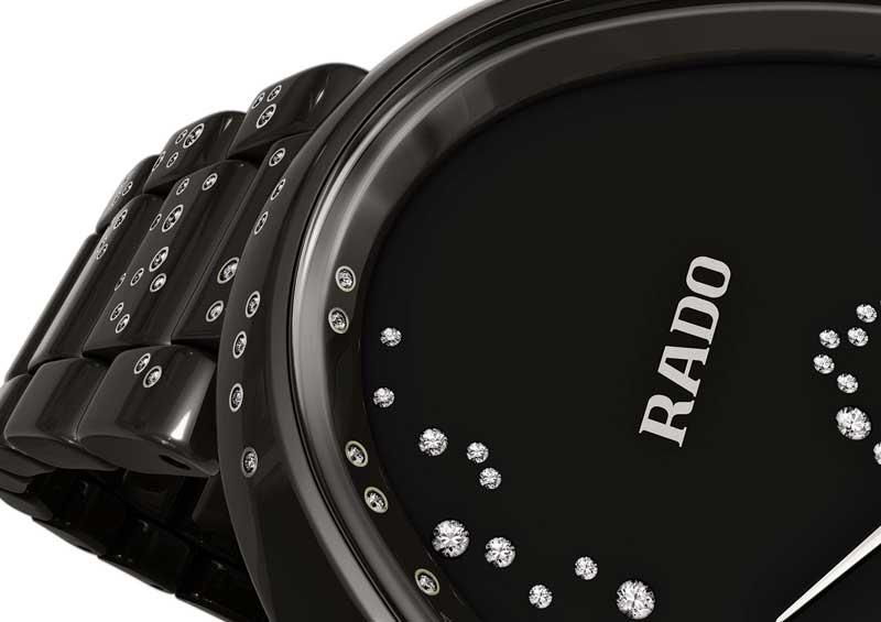 雷達表依莎系列高科技陶瓷觸控鑽錶
